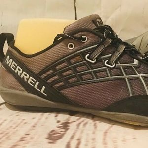 Merrell Trail Glove 2 Black & Silver Running 8 M